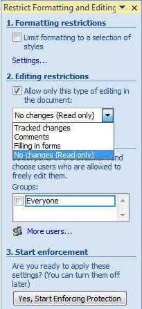 Cara Mengunci Dokumen Word 2007 Agar Tidak Bisa di Edit ...