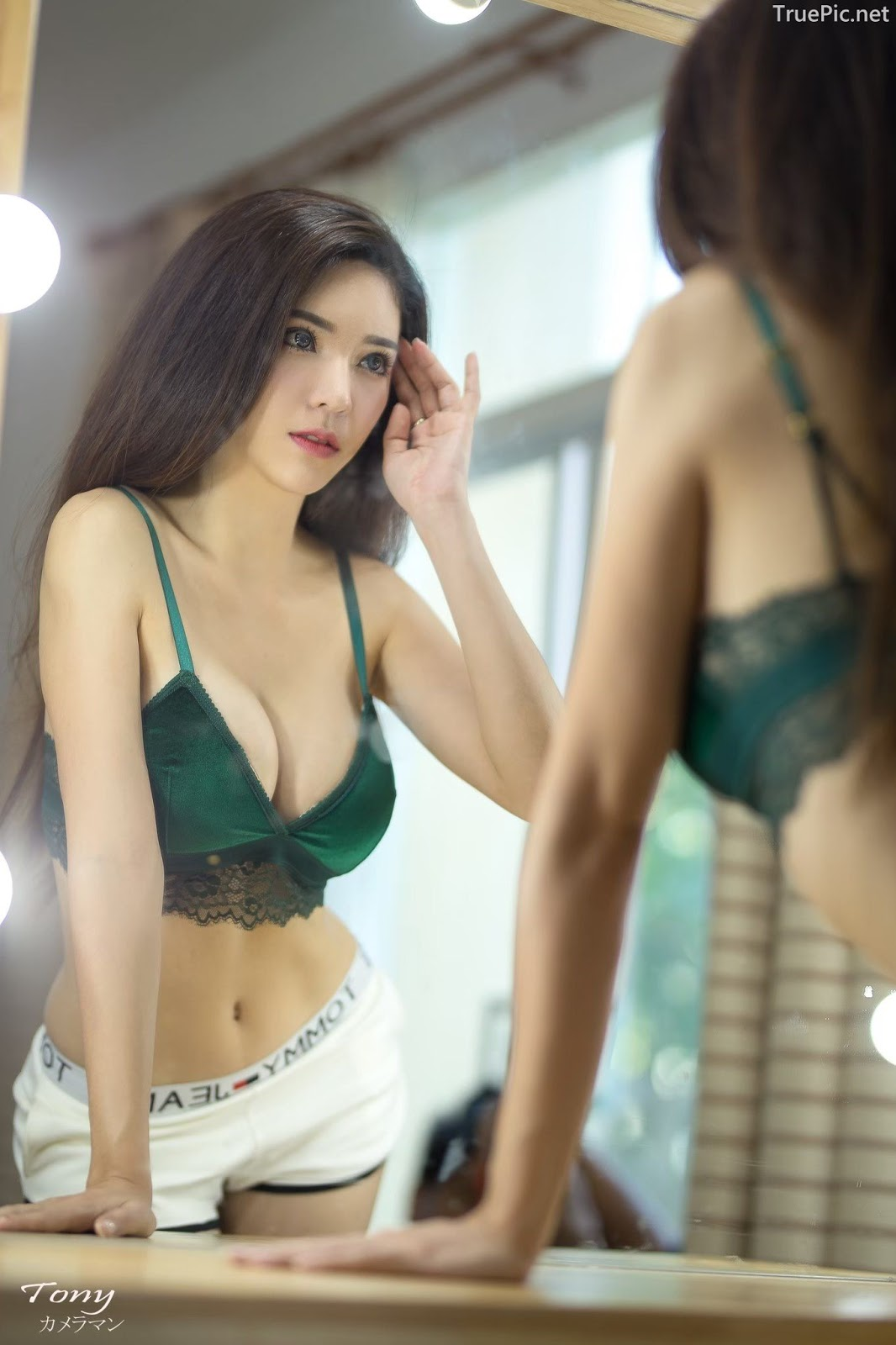 Thailand hot model – Janet Kanokwan Saesim – Sexy vs Cute and Bra vs Long Dress - Picture 10