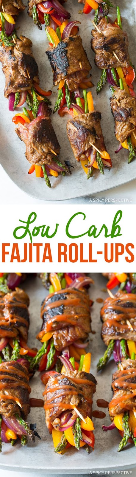 Keto/Low Carb Steak Fajita Roll-Ups Recipe