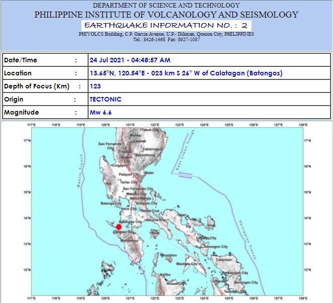 Magnitude 6.6 earthquake shakes Luzon, Metro Manila