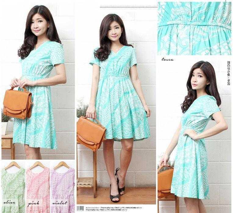Jual Baju Batik Fredella Batik Dress - 13810