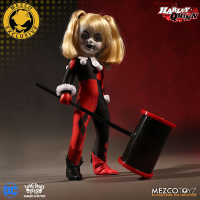 San Diego Comic-Con 2017 Exclusive Harley Quinn Unmasked Living Dead Dolls by Mezco Toyz x DC Comics