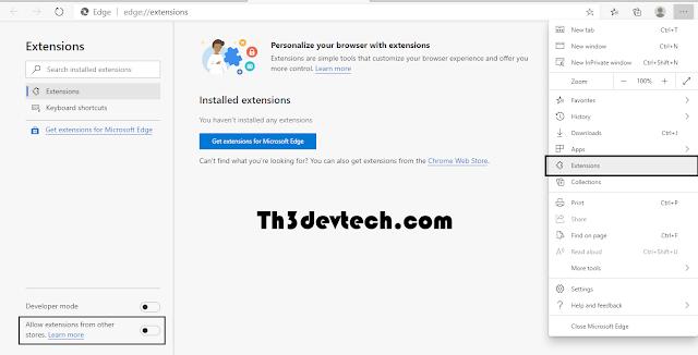 اتاحة اضافات متصفح Google Chrome