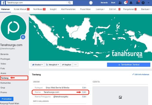 Cara mengganti nama fanspage facebook yang tidak bisa di ganti