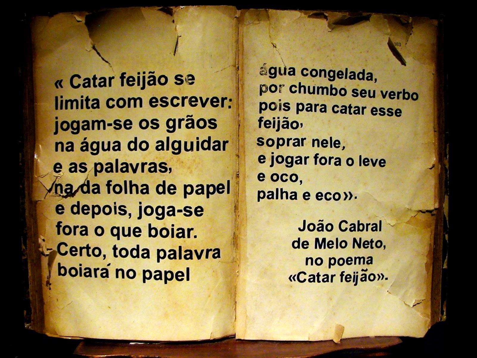 Amante Das Letras Análise Do Poema Catar Feijão De João Cabral