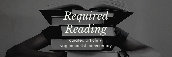 "stack of books with caption of ""required reading 