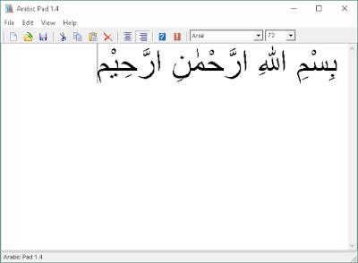 Mengetik Tulisan Arab di PC dengan ArabicPad