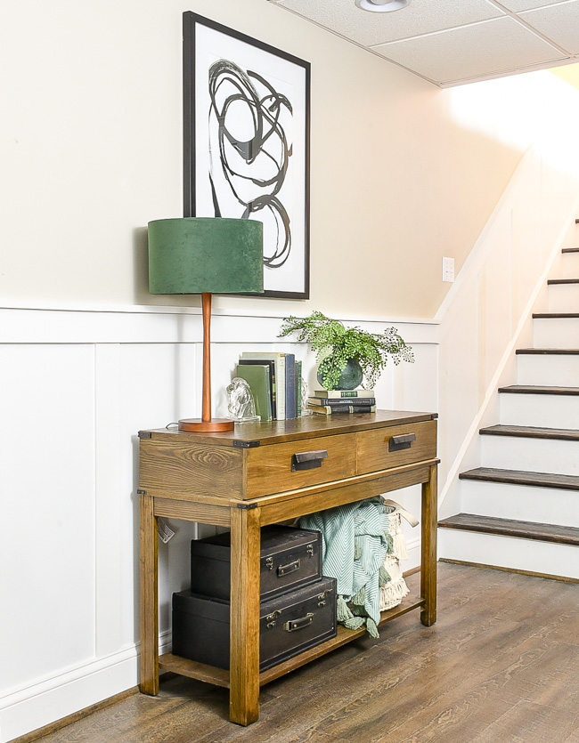 Decorate under an entry or console table