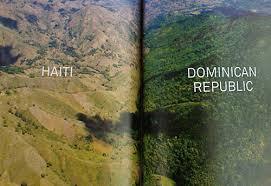 la situation du déboisement en  Haïti par rapport à la République dominicaine
