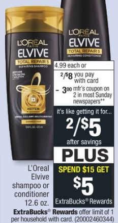 FREE L'Oreal Elvive Total Repair CVS Deal - 6/9-6/15
