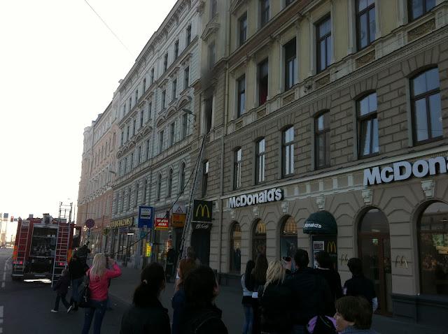 Incendio de albergue en Riga