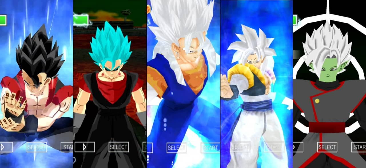 Evil Gogeta and Vegito Vs DBS Gogeta and Vegito