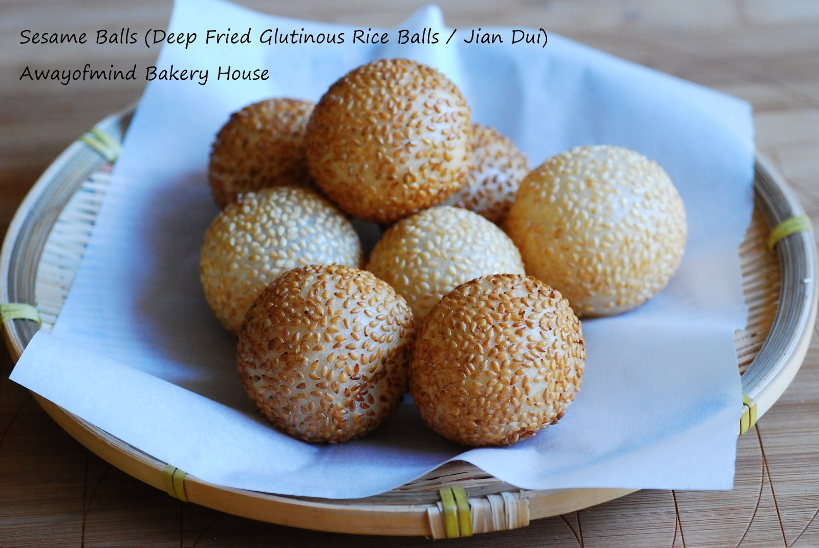 Awayofmind bakery house sesame balls deep fried glutinous rice sesame balls deep fried glutinous rice balls jian dui ccuart Images