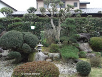 Beautifully manicured private garden in Nagasaki, Japan