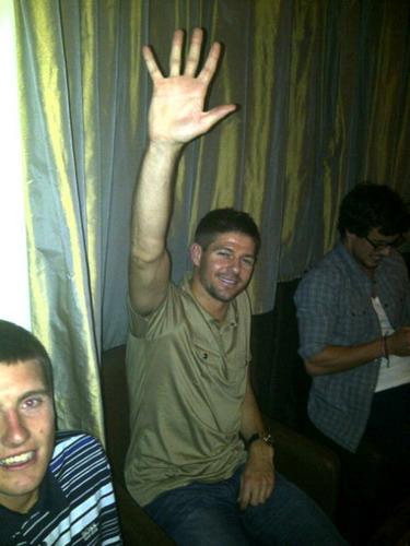High five: Steven Gerrard signalling Liverpool's five European Cup wins