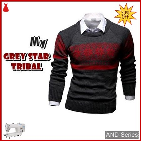 AND401 Sweater Pria Grey Star Tribal BMGShop