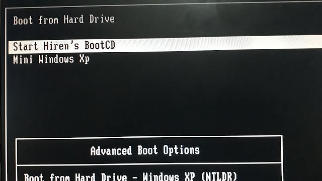 Hiren's Boot Start up files