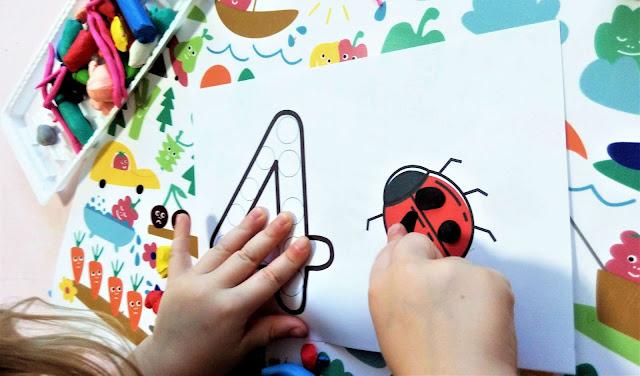 matematyka intuicyjna i nauka liczenia dla dzieci karty pracy plastelina