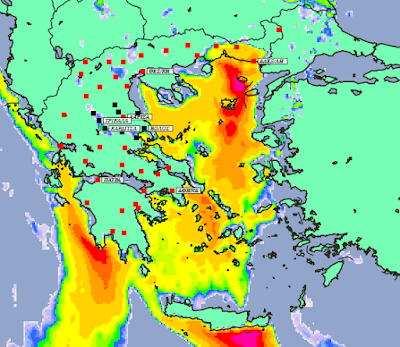 3 - Συννεφιές και βροχές την Δευτέρα και Τετάρτη σε μεγάλο μέρος της χώρας (+XAΡΤΕΣ ΥΕΤΟΥ)