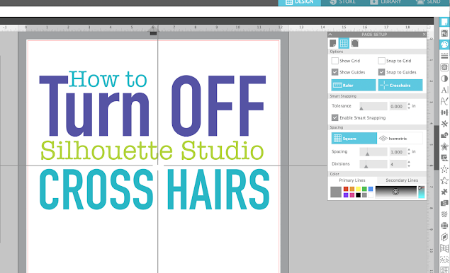 silhouette studio, page setup panel, silhouette cameo tutorials, Crosshairs, Silhouette software