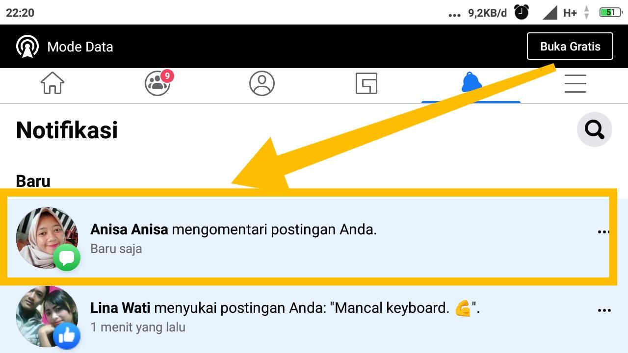 cara balas komentar di facebook