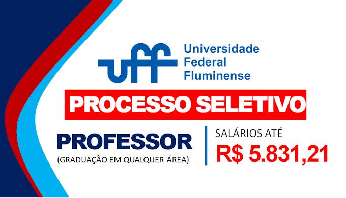 UFF RJ abre seleção para Professor com graduação em qualquer área! Salários R$ 5.831,21