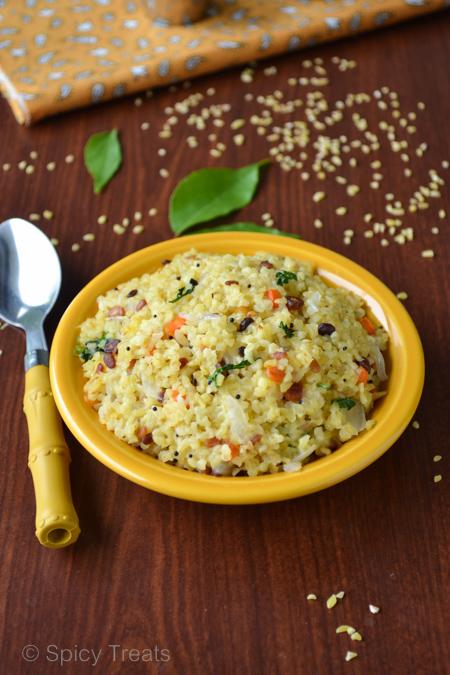 Spicy Treats Cracked Wheat Upma Cracked Wheat Recipes