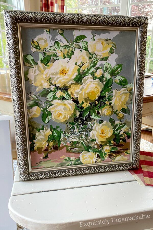 How To Frame A Paint By Number Canvas