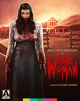 Cover art for Arrow Video's Blu-ray release of Lucky McKee's THE WOMAN!