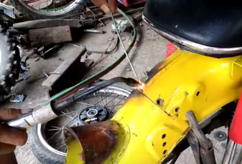 cara menyambung spakbor belakang c70