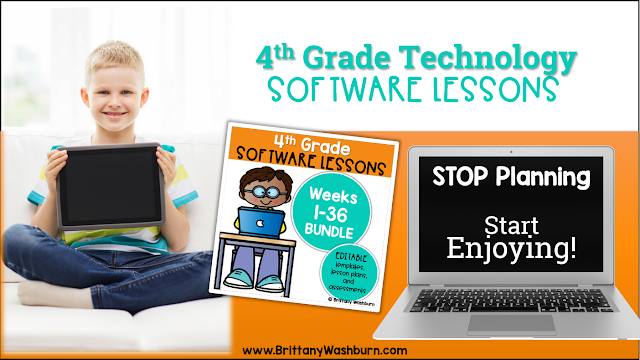4th Grade Software Lessons for the Computer Lab