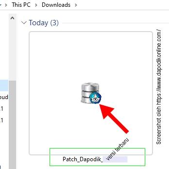 Patch aplikasi dapodik