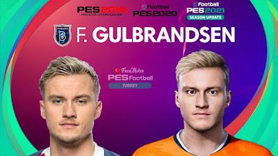 PES 2021 Faces Fredrik Gulbrandsen by PES Football Turkey