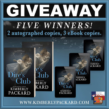 Dire's Club tour giveaway graphic. Prizes to be awarded precede this image in the post text.