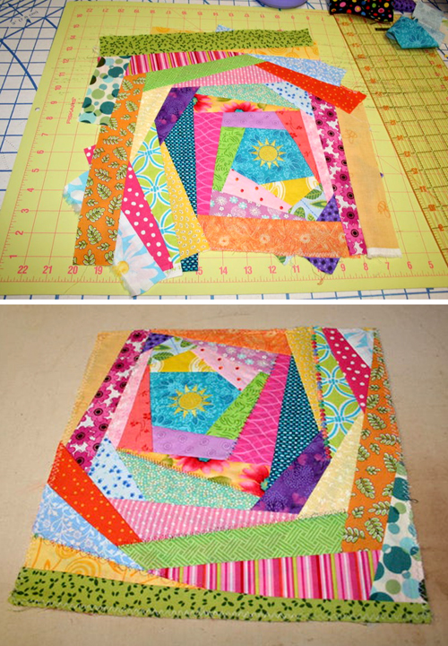 How to Sew an Easy Crazy Quilt Block - Tutorial