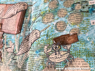 artwork by Jenny James featuring Book Art with an Under the Sea Fairy Story