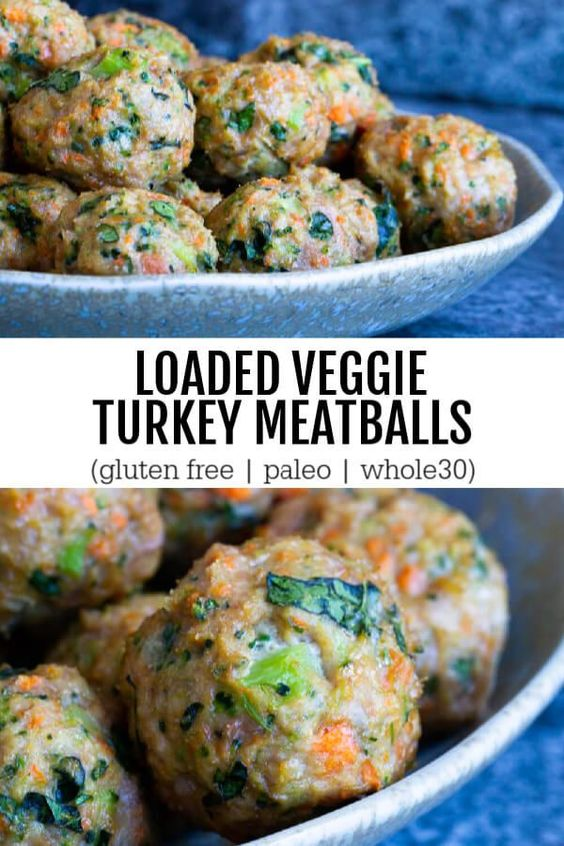 LOADED VEGGIE TURKEY MEATBALLS (GLUTEN FREE, PALEO, WHOLE30) #recipes #healthydinner #dinnerrecipes #healthydinnerrecipes #food #foodporn #healthy #yummy #instafood #foodie #delicious #dinner #breakfast #dessert #lunch #vegan #cake #eatclean #homemade #diet #healthyfood #cleaneating #foodstagram