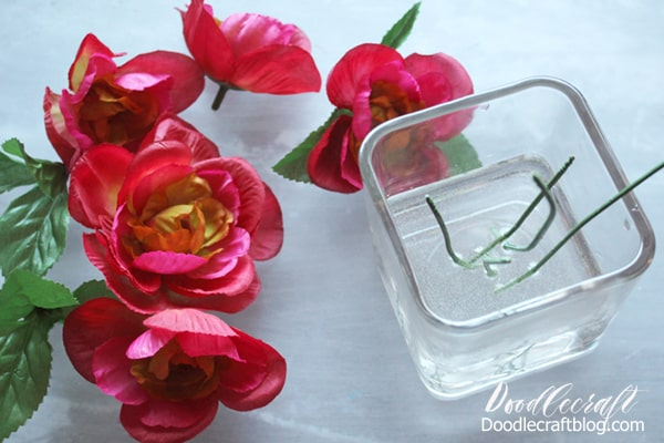 How to make a flower vase centerpiece that looks great year round and doesn't need any maintenance using EasyCast resin and fake flowers.