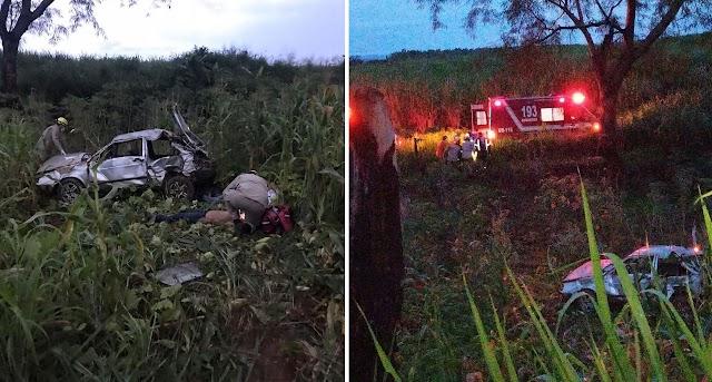 Goianésia: Acidente deixa três pessoas feridas na GO-080