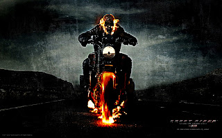 Ghost Rider Spirit of Vengeance Poster Flaming Skull Bike HD Wallpaper