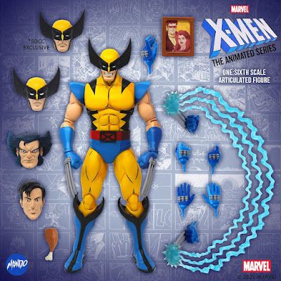 San Diego Comic-Con 2021 Exclusive X-Men: The Animated Series Wolverine 1/6 Scale Variant Figure by Mondo x Marvel