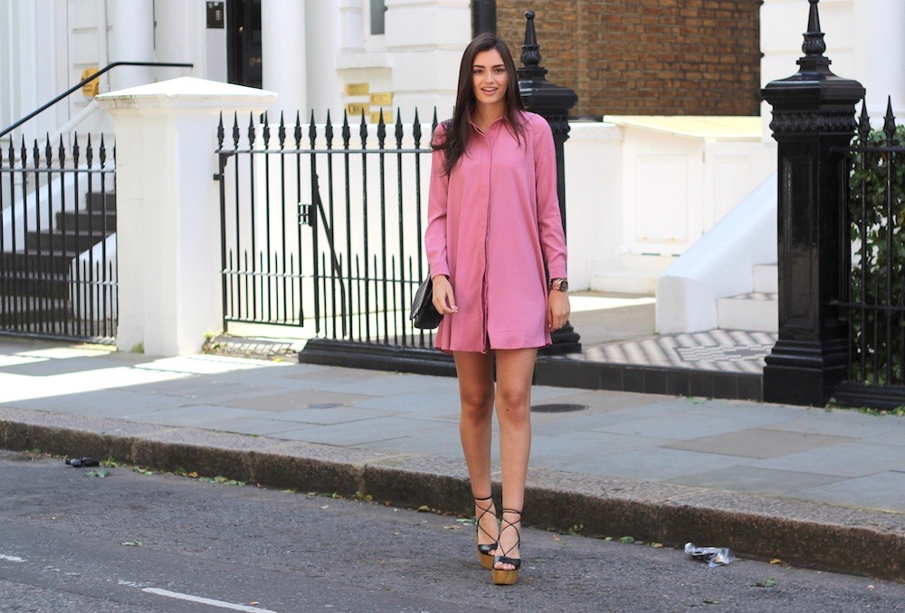 The Pink Shirt Dress