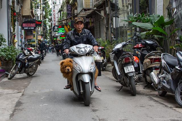 Transport skuterami w Hanoi