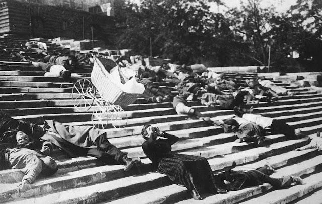 Escena de las escaleras de Odesa. Acorazado Potemkin