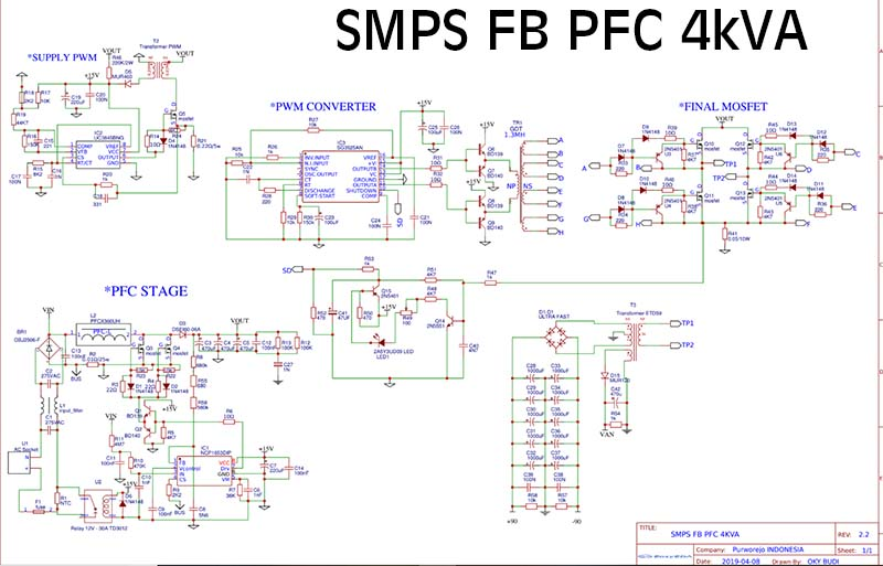SMPS FULLBRIDGE PFC Schematic + PCB Layout PDF - Electronic ... on
