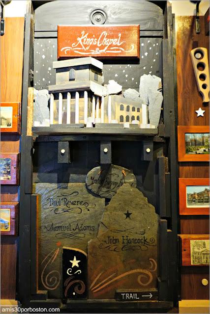 Sala del Freedom Trail del Union Oyster House en Boston: King's Chapel