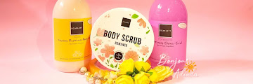 REVIEW Lengkap! Scarlett Whitening Body Care: Pomegrante Body Scrub Wash, Freshy Body Lotion, dan Romansa Scrub