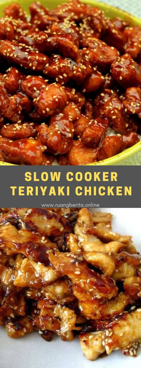 Slow Cooker Teriyaki Chicken #dinner #sidedish #slowcooker #teriyaki #chicken