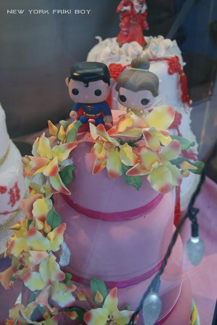 Superman y Bella en tarta de Chinatown
