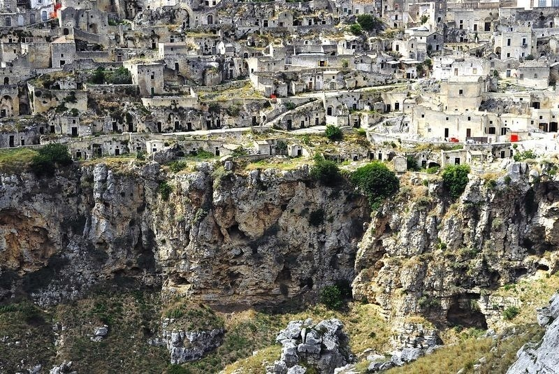 limestone at the sassi di matera city